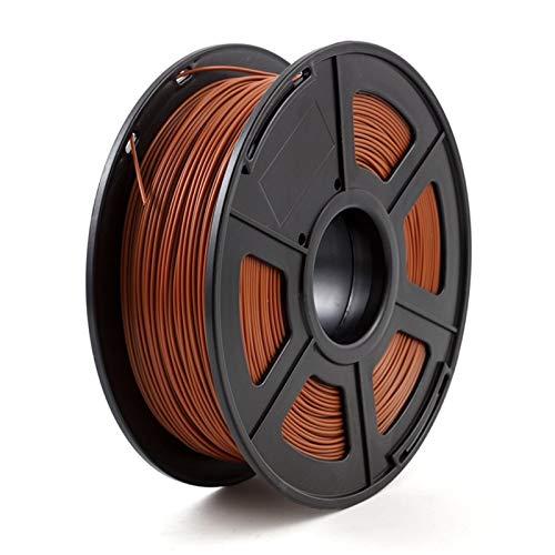 3d Drucker Filament 3D-Drucker Glühfaden ABS 1,75 mm 1 kg / 2,2 £ ABS Kunststoff-Verbrauchsmaterial Material for 3D-Drucker und 3D-Pen ABS Filament (Color : Brown)