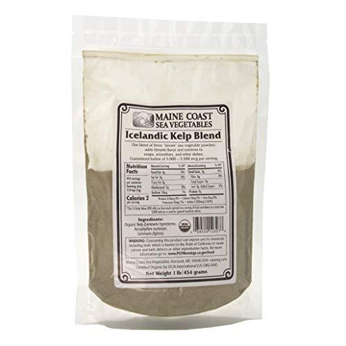 "Kelp Powder ""Icelandic Kelp Blend"" | 1 Pound | Organic Seaweed Powder | Maine Coast Sea Vegetables"