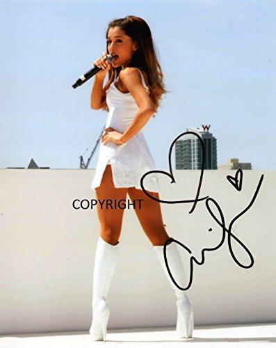 Fotodruck Ariana Grande mit Autogramm, limitierte Auflage, mit Zertifikat, limitierte Auflage