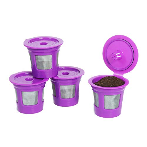 Perfect Pod Cafe-Save Reusable K-Cup Pod Coffee Filters | Refillable Pod Capsules with Built-In,...