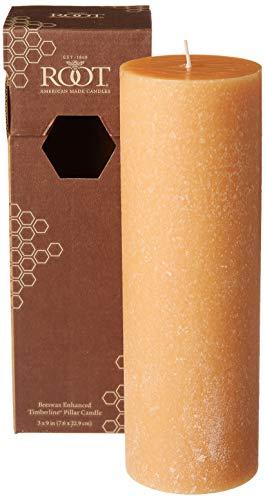 Root 3 x 9-Inch Timberline Pillar Candle, Tangerine Lemongrass Scent, Mandarin Color