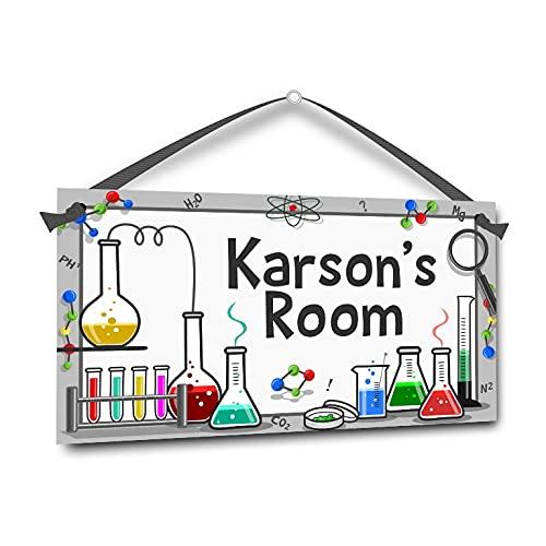 teacher sign for doors Science Lab, Personalized Kids Bedroom Door Sign, Teacher Room Plaque