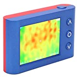 Cámara termográfica infrarroja de mano, MLX90640 Probador de temperatura portátil Sensor Medidor Pantalla LCD de 2,4 pulgadas