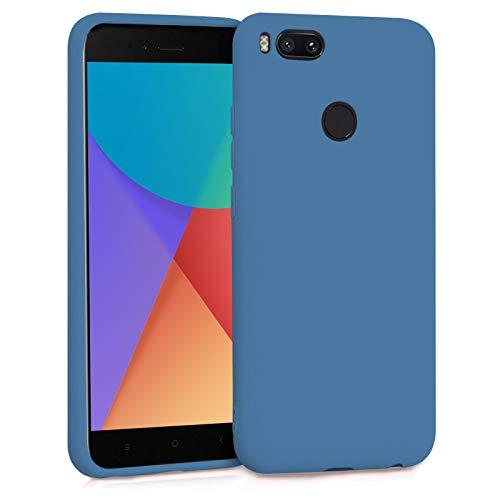 TBOC Funda para Xiaomi Mi A1 - Mi 5X- Carcasa Rígida [Azul] Silicona Líquida Premium [Tacto Suave] Forro Interior Microfibra [Protege la Cámara] Antideslizante Resistente Suciedad Arañazos