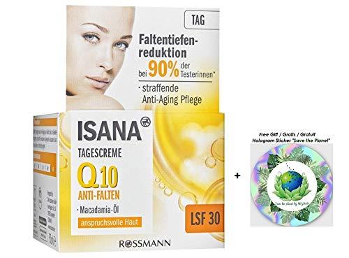 ISANA Q10 Anti-Falten Tagescreme LSF 30 - straffende Anti-Aging Pflege -LSF 30 - mit Macadamia-Öl -...