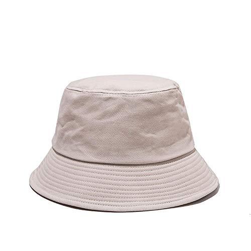 Bucket Hat Chapeau Chapeau De Seau Solide Unisexe Casquettes Hip Hop Hommes Femmes Été Panama Casquette Plage Soleil Chapeau De Pêche Beige