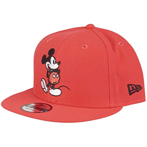 New Era Mickey Mouse 9fifty Snapback Cap Colour Injection Lava Red - One-Size