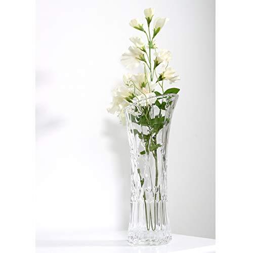 Saidan SD Vase aus Glas mit Herzen, Dekoration für Zuhause, Blumenvase, Pflanzen, kreatives Design, 25 cm, Höhe Ø 8,5 cm