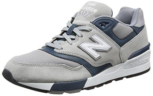New Balance Herren 597 Sneakers, Mehrfarbig (Grey/Teal), 42 EU