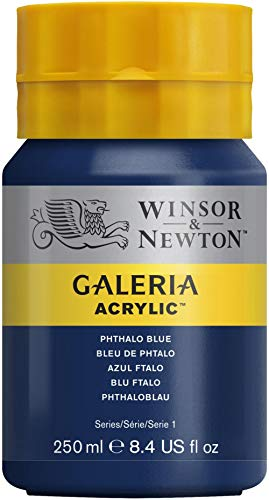 W&N : Galeria : Acrylic Paint : 250ml : Phthalo Blue