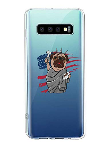 Oihxse Transparent Coque pour Samsung Galaxy J5 Etui en Silicone Souple Gel TPU Protecteur Bumper Hybrid [Ultra Mince] [Antichoc] [Anti-Scratch] Chien Motif Design Housse (A6)
