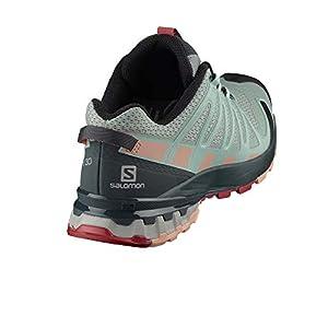 Salomon Women's XA PRO 3D v8 W Trail Running, Aqua Gray/Urban Chic/Tropical Peach, 8