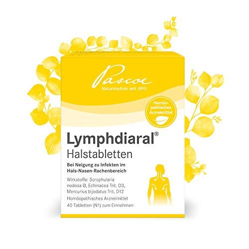 Pascoe® Lymphdiaral Halstabletten: fürs Lymphsystem - bei Neigung zu Infekten von Hals, Nase & Rachen - mit Sonnenhut (Echinacea) & der Knotigen Braunwurz (Scrophularia nodosa) - 40 Tabletten