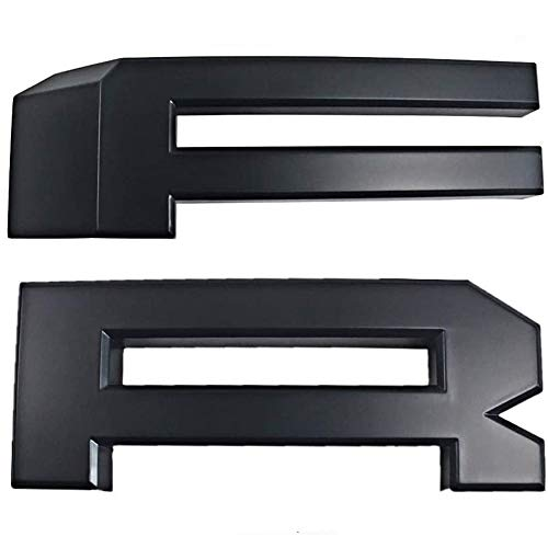 Mattle Black F&R letters Replacement For Aftermarket 1999-2004 Ford F250 F350 F450 Super Duty Raptor style Grille