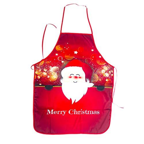 ITCHIC Grembiule da Bar di personalità di Natale Grembiule Natalizio Pupazzo di Neve Stampa Tessuto Decorazioni Natalizie Grembiule da Cucina