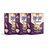 Kravy Dip Dip Crackers | Mouthwatering, Thin, Crispy Crackers | Essential Pantry Items | They Make Fantastic Cheese Crackers or Use Them for Dips, - Flavors Everything & Original, (Everything, 3 Pack)