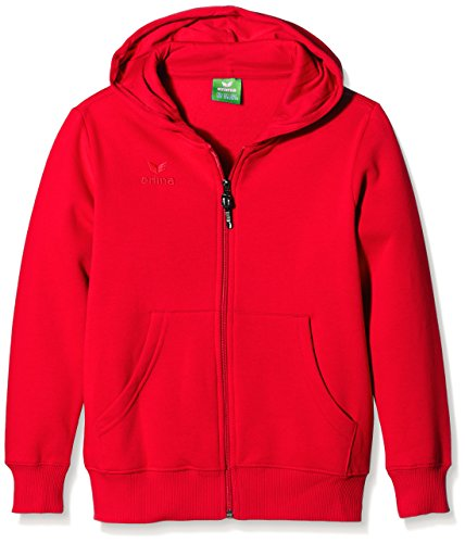 erima Kinder Sweatjacke Hooded Jacket, Rot, 152, 207332