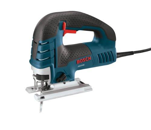 BOSCH Power Tools Jig Saws - JS470E Corded Top-Handle Jigsaw - 120V Low-Vibration, 7.0-Amp Variable Speed For Smooth Cutting Up To 5-7/8\' Inch on Wood, 3/8\' Inch on Steel For Countertop, Woodworking