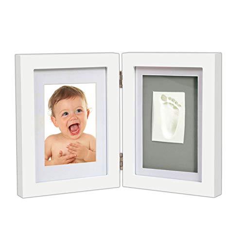 EIU Baby Massivholz Fotorahmen Baby Handabdruck Kit & Footprint Fotorahmen Für Neugeborene Mädchen Und Jungen, Babyparty Geschenke Für Taufregister
