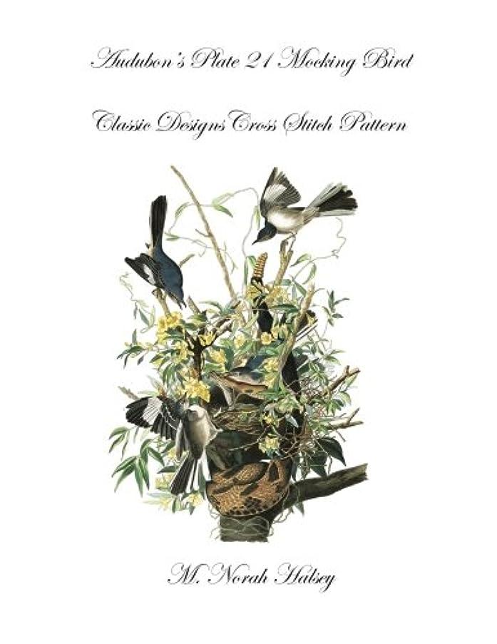 Audubon's Plate 21 Mocking Bird: Classic Designs Cross Stitch Pattern