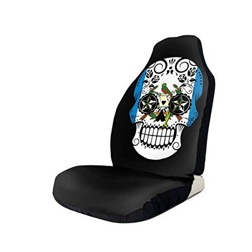 Preisvergleich Produktbild Sobre-mesa Guatemaltekische Flagge Sugar Skull-1 Autositzbezug Set Universal Fit Die meisten Geländewagen PKW Van Limousine