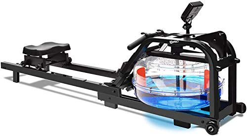 WINNINGO Water Rowing Machine, Upgraded Water Rower with...