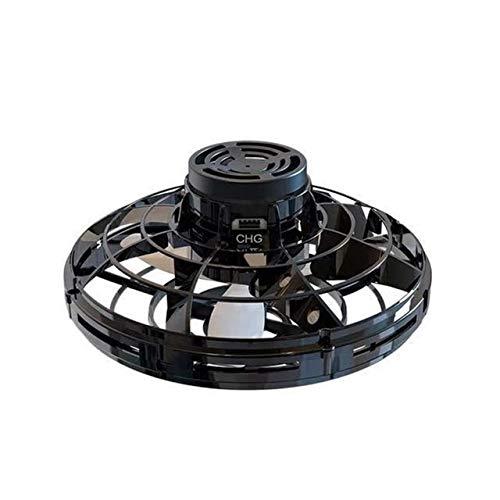 JIE Flying Gyro, Vuelo Libre Vehículo Inter-Vuelo, Inducción Gyro, Carga por USB, descompresión, platillo Volante giroscópico ( Color : Black )