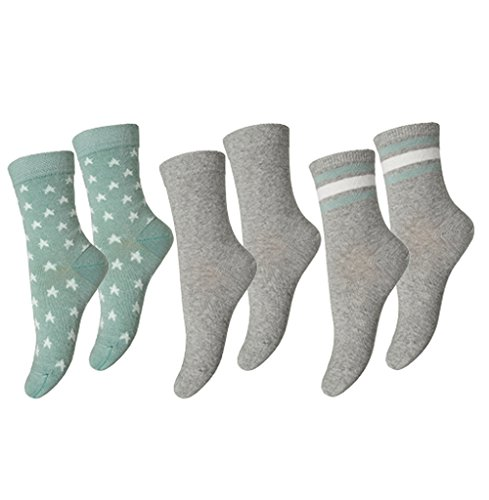 MP Strümpfe Socken 77041 in 3er Pack Set, Unisex, Salbeigrün-Grau (877), Gr. 29-32