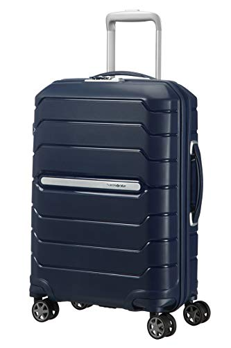Samsonite Flux - Spinner S Expandable Bagage à Main Extensible, 55 cm, 44 L, Bleu (Navy Blue)