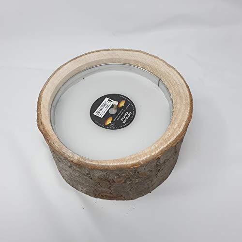 Mosaik Kerzen Outdoorkerze Rustic Wood weiß 21x10 cm, Gartendeko, Geschenk, Windlicht