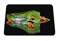 26cmx21cm マウスパッド (カエルの顔の影) パターンカスタムの マウスパッド