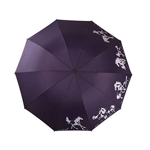 HQQSC Paraguas a Prueba de Viento Paraguas de Negocios, Parasol de protección a Prueba de Lluvias con Apto para la colocación de la compañía, Trabajo o Salidas con un Paraguas portátil Paraguas