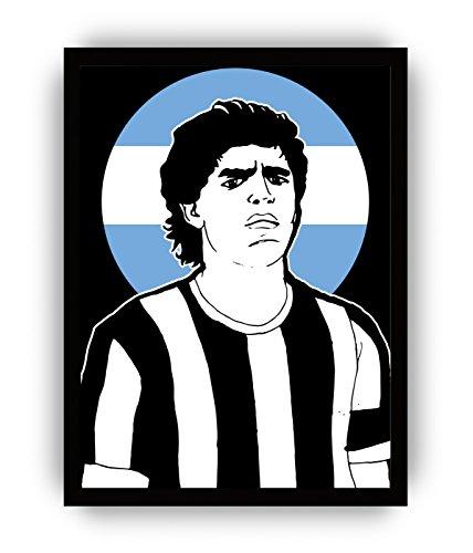 Lienzo decorativo para pared con la imagen del gol con la mano de Maradona