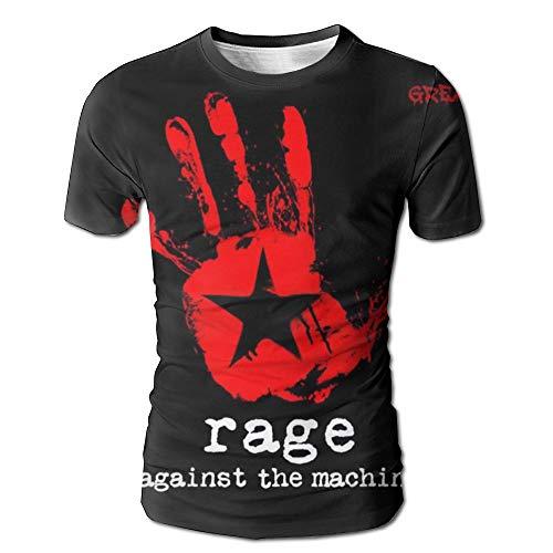 Geneva F Rage Against The Machine Men's Fashion 3D Printed Short Sleeve T-Shirt S White
