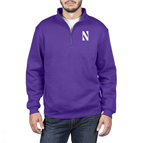Top of the World Northwestern Wildcats Men's Team Color Classic Quarter Zip Pullover, X-Large