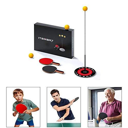 Tischtennisschläger Set Tischtennistrainer für Kinder Tischtennis Trainer mit elastischem Soft Shaft Freizeit Dekompressions-Tischtennistrainer zum Streicheln für den Innen- oder Außenbereich