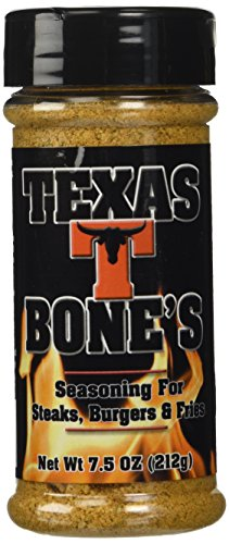 Texas T-Bones Rub and Seasoning for Steaks, Burgers and Fries 7.5 Ounce