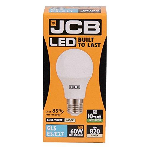 Lamp 10w LED GLS Opal ES E27 4000k koud wit 820lm (JCB S12504)