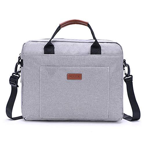 ZH Laptop Bag 15 Inch Slim Briefcase for Men Women Business Portable Carrying Case Computer Shoulder Bag Water Resistant Crossbody Shoulder Bags Work School Sport Travel Casual Unisex,Gray