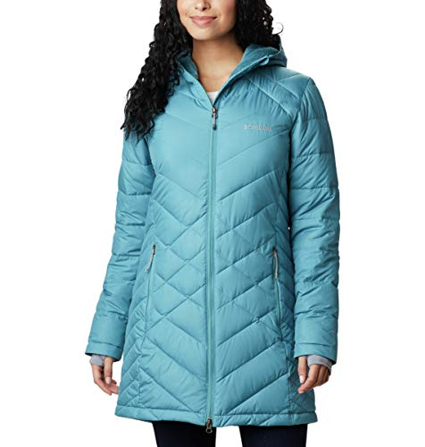 Columbia Women's Heavenly Long Hooded Jacket, Canyon Blue, Small