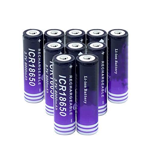 NHFGJ 18650 Batería De Litio 6000 Mah 3,7 v Cigarrillo ElectróNico Batería Recargable Potencia De Descarga Alta Corriente Grande 8PCS