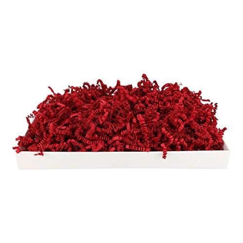 SizzlePak 024, Deep Red, Dunkelrotes Füllmaterial und Polsterpapier zum Füllen, Polstern, Ausstopfen, Dekorieren von Geschenk-Verpackungen, Deko - 1 kg