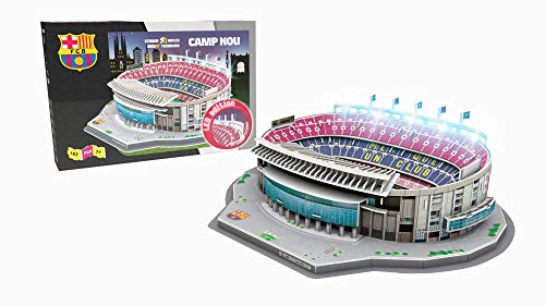 NANOSTAD Estadio Camp NOU LED Edition (FC Barcelona) Puzzle 3D (Producto Oficial Licenciado)