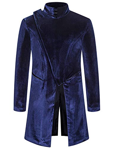 ATRYONE Mens Vintage Halloween Costume Gothic Style Long Jacket, Steampunk Victorian Frock Coat