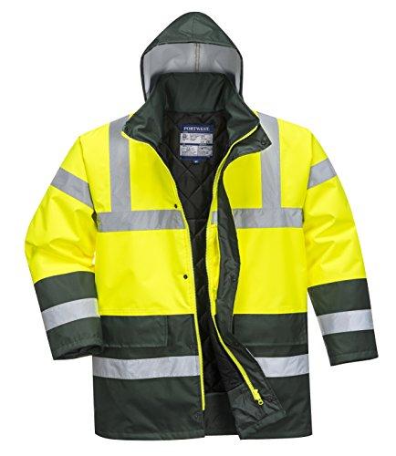 Portwest S466 Chaqueta acolchada de alta visibilidad, amarillo/verde, L