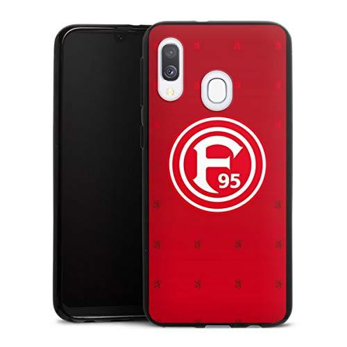 DeinDesign Silikon Hülle kompatibel mit Samsung Galaxy A40 Case schwarz Handyhülle Fortuna Düsseldorf Trikot F95