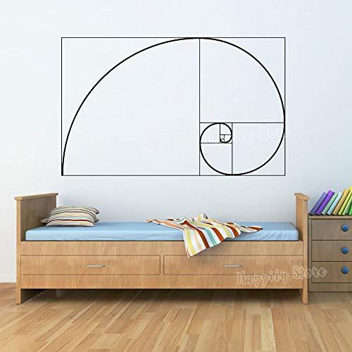 Zdklfm69 Adesivi Murali Adesivi da Parete Matematica Artistica Carta da Parati in Vinile Scienza Fisica Decorazioni per la casa Soggiorno Camera da Letto 76x47cm