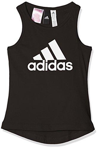 adidas Mädchen Essentials Performance Logo Tank Tanktop, Black/White, 116