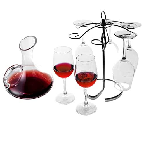 Decanter per Vino Set di Bicchieri da Vino Rosso Calice da Vino in Cristallo per Uso Domestico Coppia Calice da Vino in Vetro,