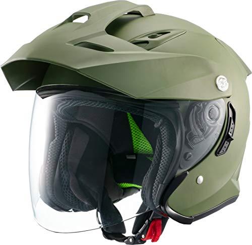 マルシン(MARUSHIN) バイクヘルメット スポーツ ジェット TE-1 マットカーキ XLサイズ MSJ1 1001626